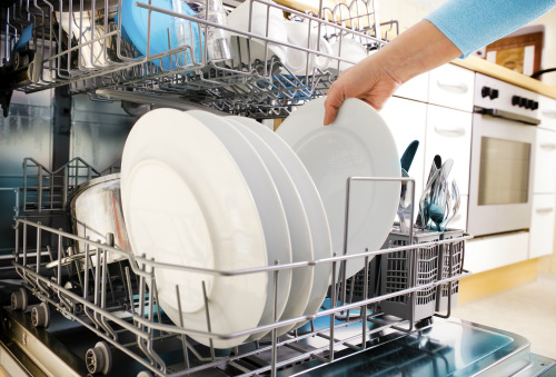 prevent white stains from dishwasher